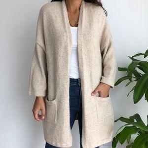 Gap cream open front knit cardigan M/L